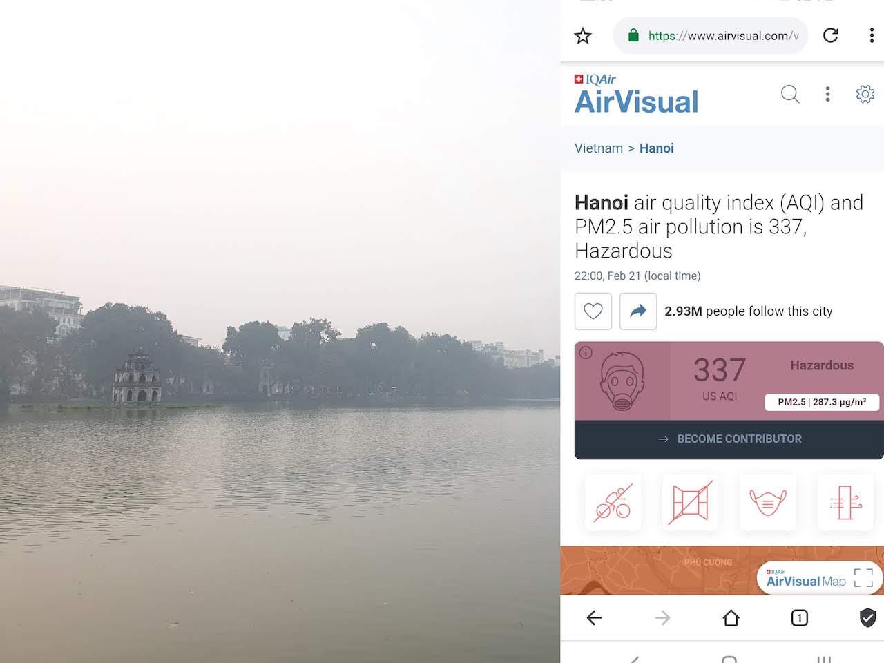 hanoi bad air quality