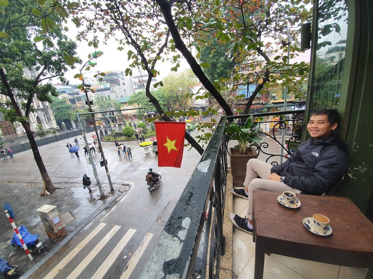 hanoi cong coffee with a view