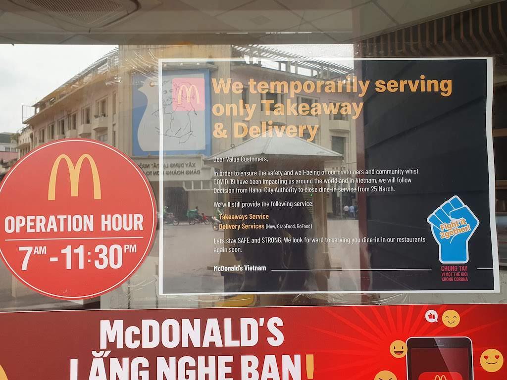 hanoi mcdonalds closing down