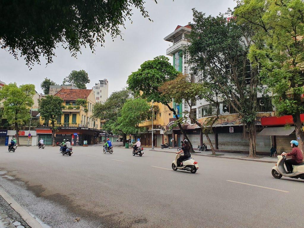 hanoi streets during corona