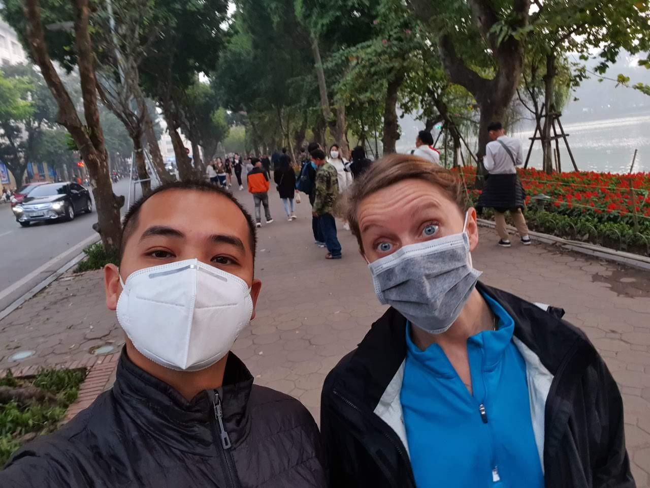 hanoi wearing masks