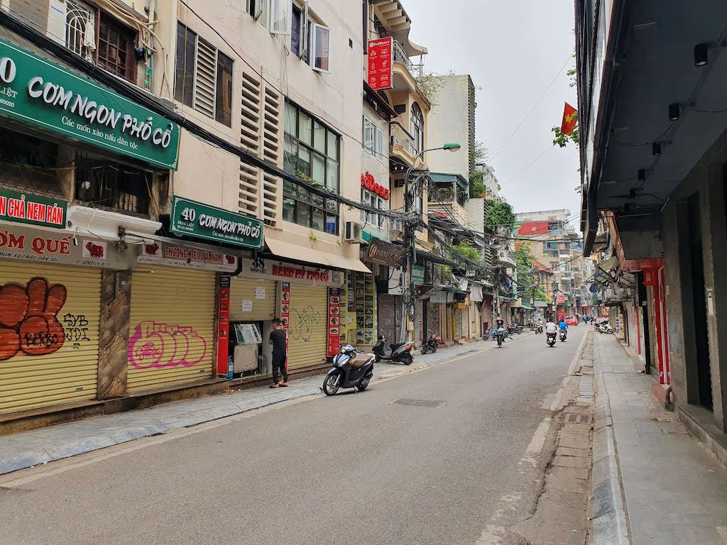 old quarter hanoi during lockdown