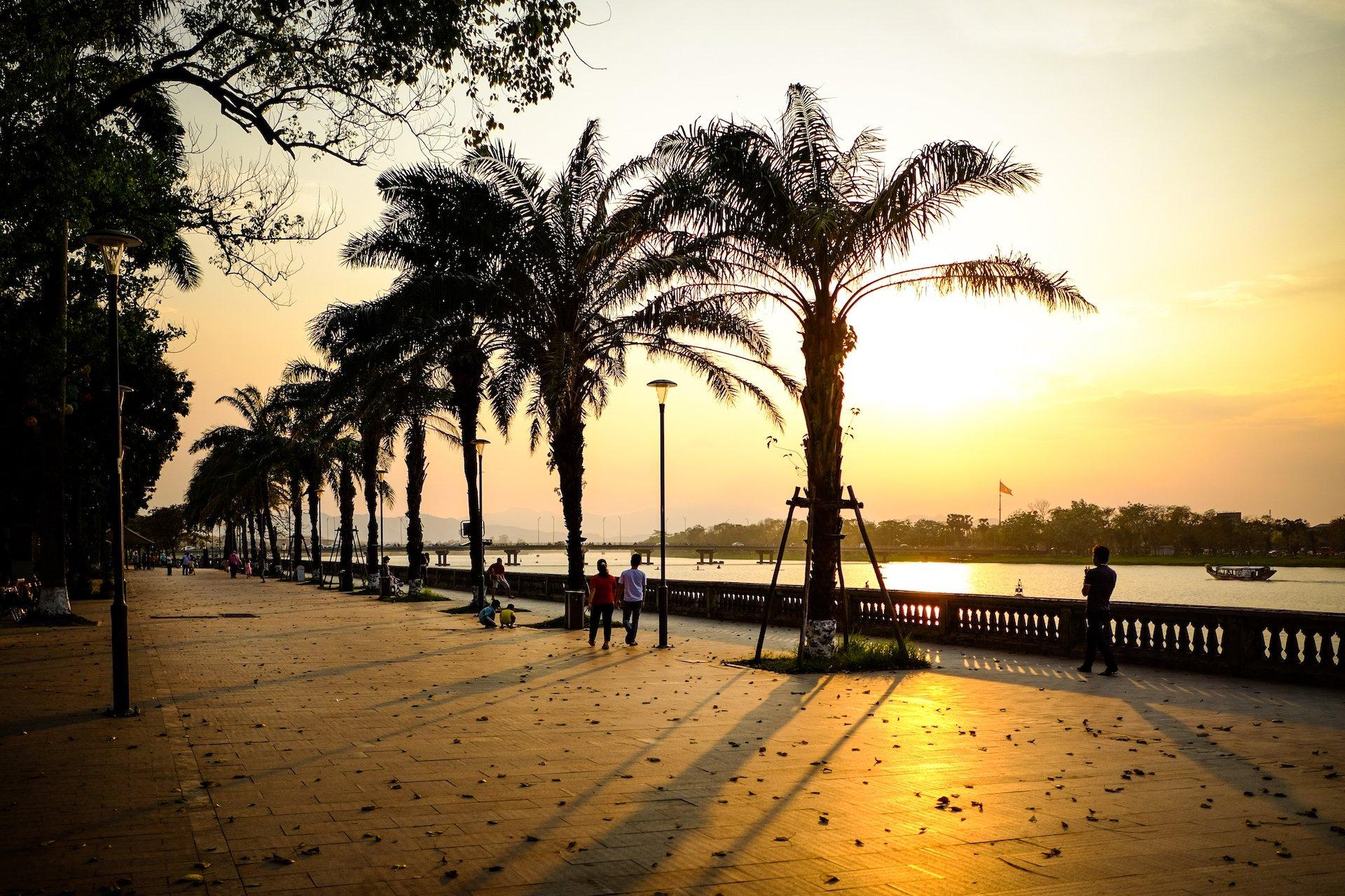 Hue Sunset River Walk