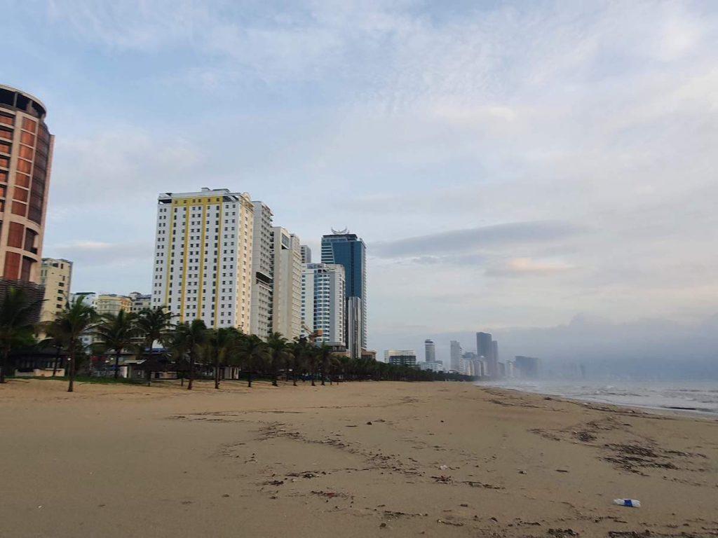 Da Nang Beach 2021 during lockdown